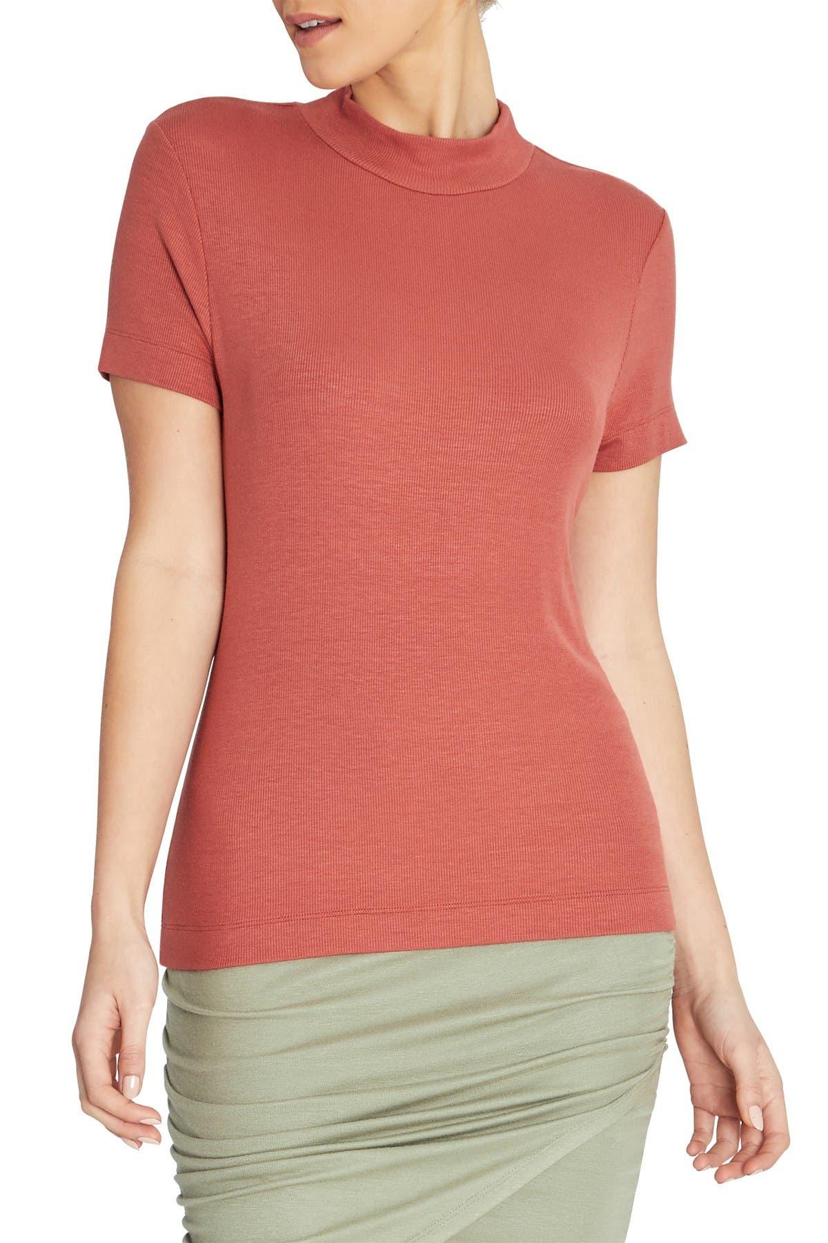 Image of Three Dots Mock Neck Knit Shirt