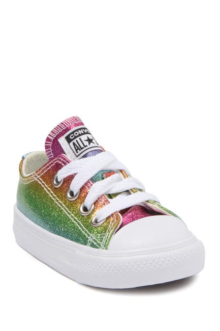 Image of Converse Chuck Taylor All-Star Rainbow Glitter Low Top Sneaker