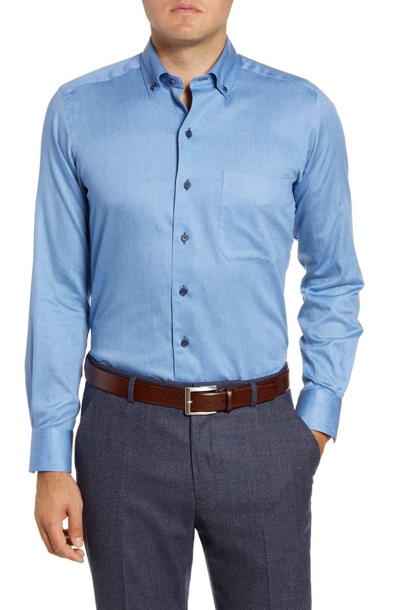 DAVID DONAHUE Regular Fit Button-Down Shirt, Main, color, SKY