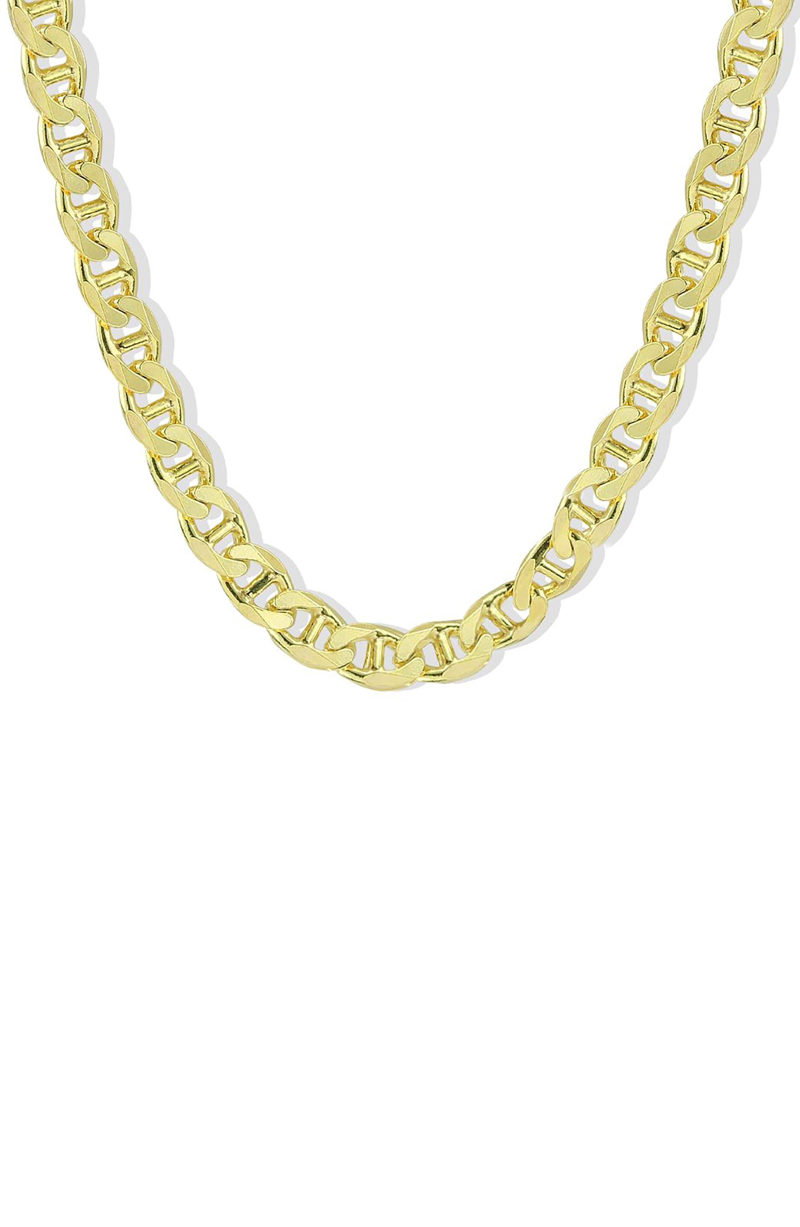 Men's Oval Link Necklace