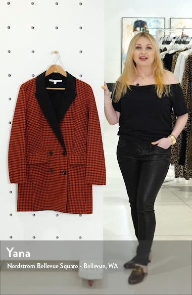 Senna Houndstooth Wool & Cashmere Coat, sales video thumbnail