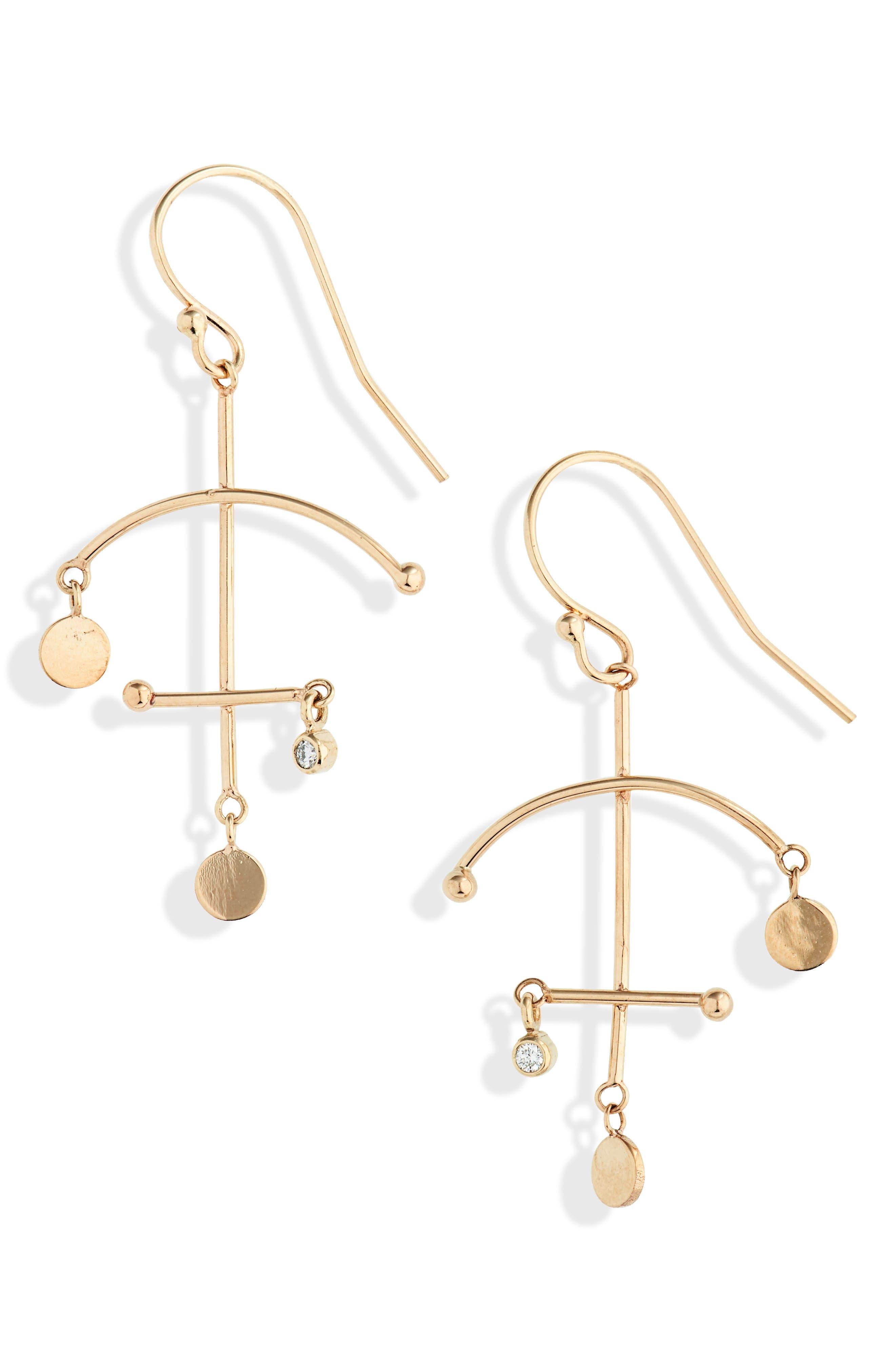Zoe Chicco Small Mobile Earrings