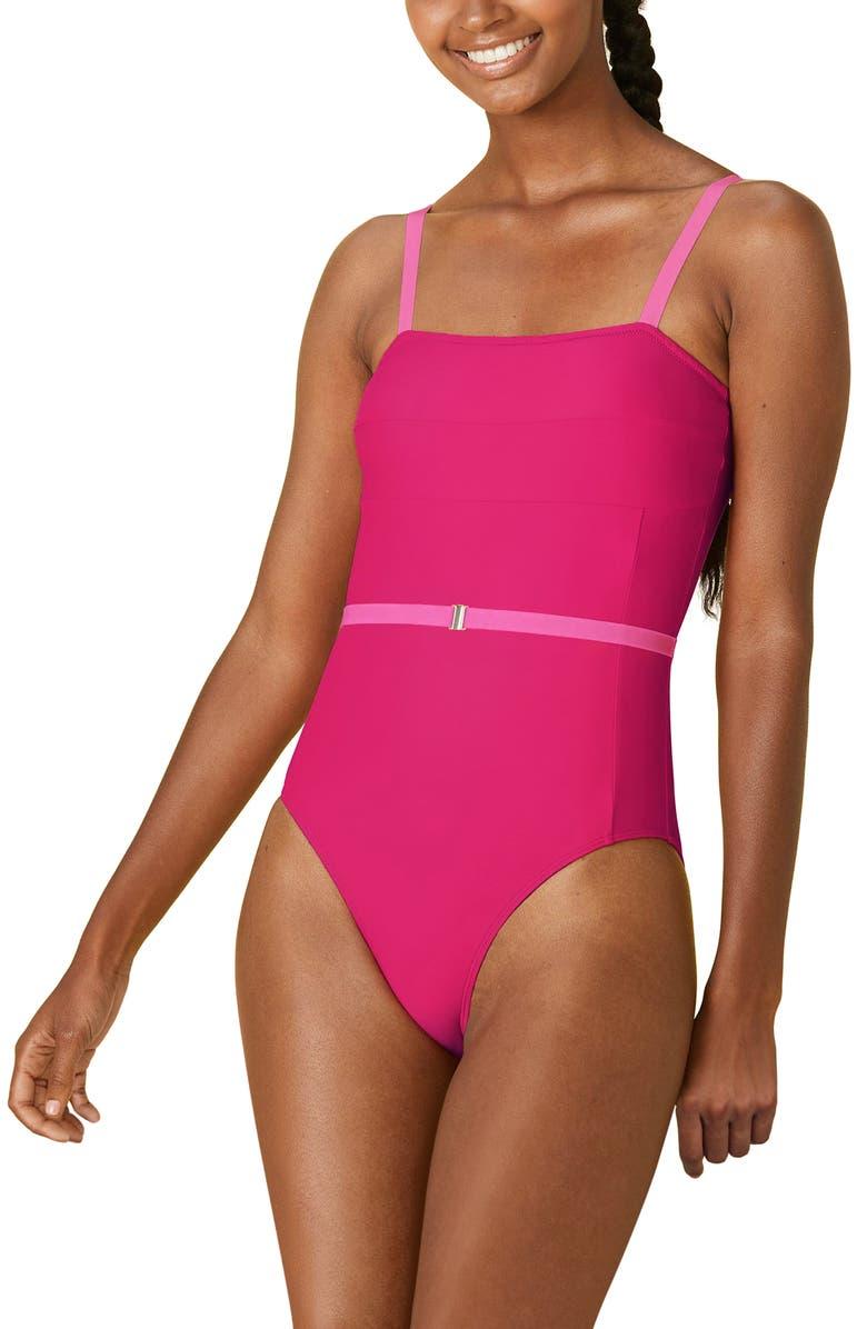 SUMMERSALT Fused Oasis One-Piece Swimsuit, Main, color, PURPLE