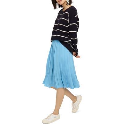 J.crew Pleated Midi Skirt, (similar to 1) - Blue