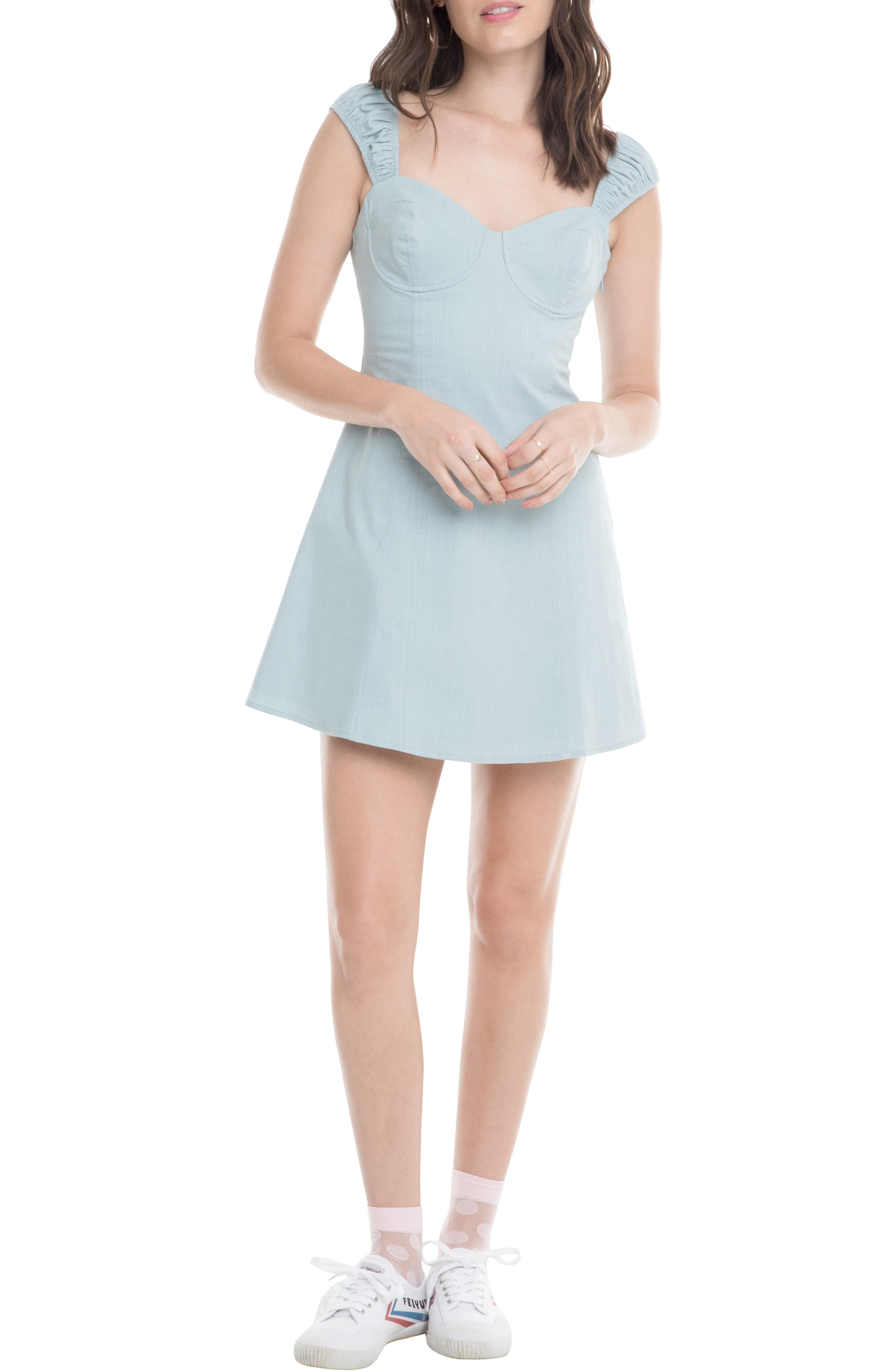 Astr The Label Maggie Minidress, Blue
