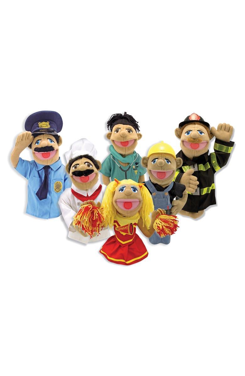 MELISSA & DOUG Happy Puppet 6-Piece Set, Main, color, MULTI