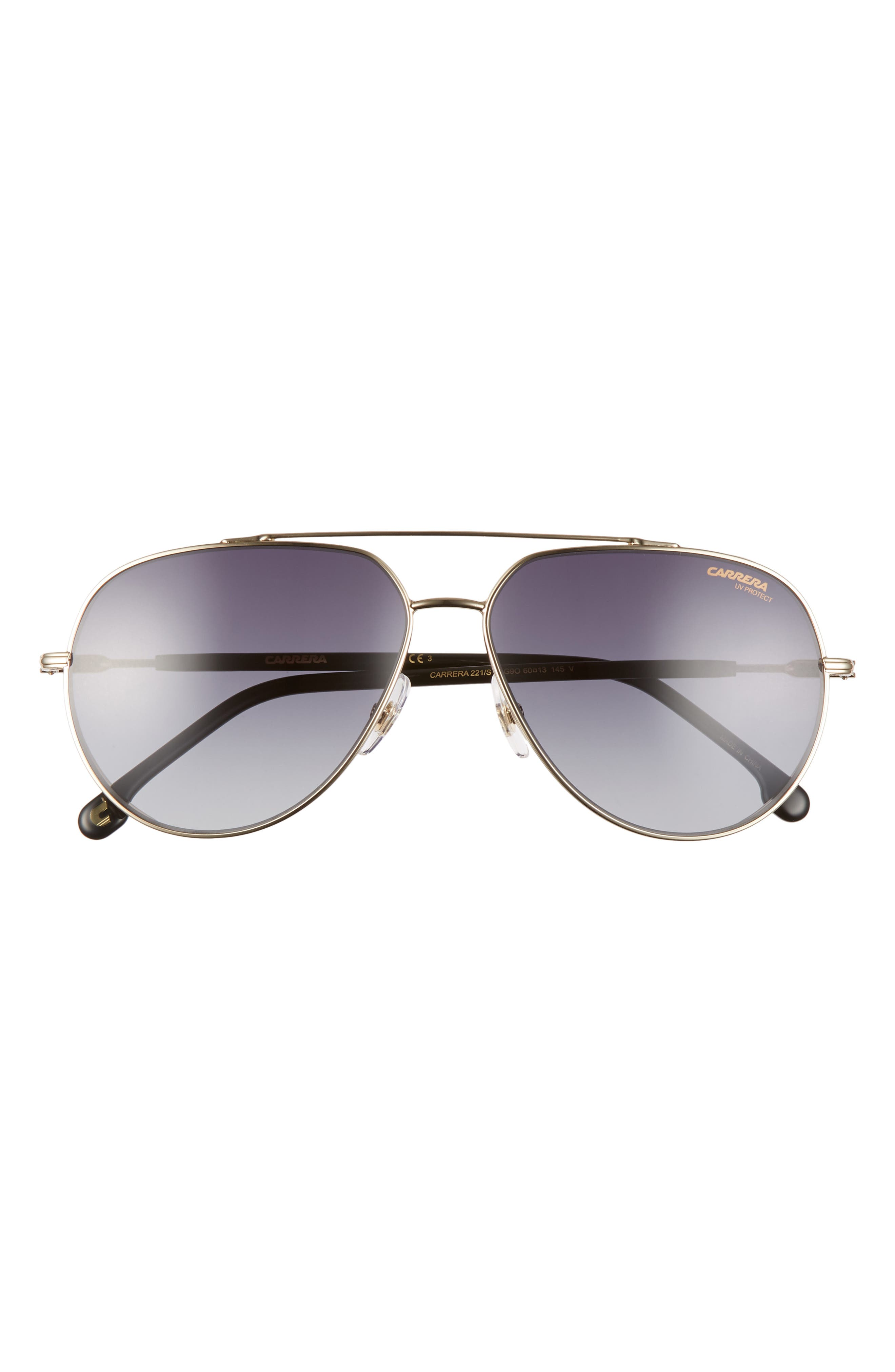 Image of Carrera Eyewear 60mm Polarized Aviator Sunglasses