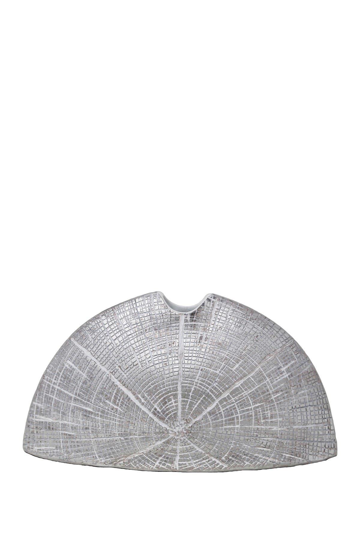 Image of SAGEBROOK HOME Flat Silver Star-Etched Vase