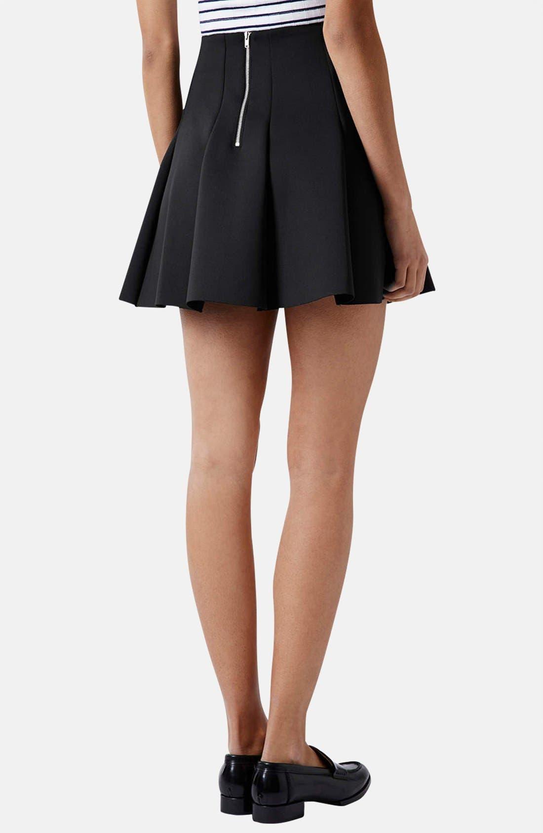 ,                             Pleated Scuba Skirt,                             Alternate thumbnail 4, color,                             001