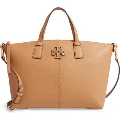 Tory Burch Mcgraw Leather Satchel - Brown