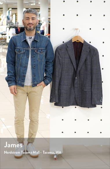 Modern H Fit Plaid Wool Blend Sport Coat, sales video thumbnail