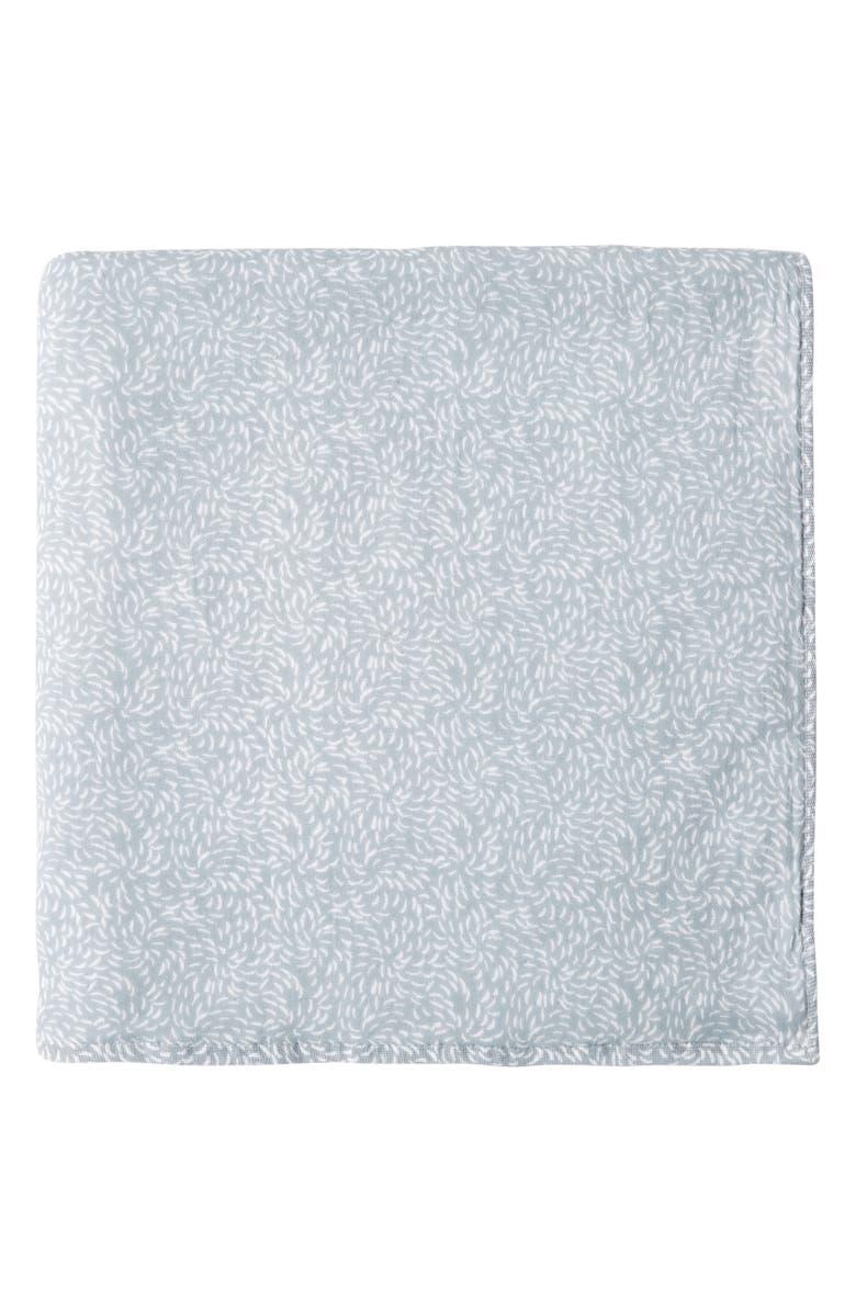 UCHINO Kiku Print Waffle & Pile Bath Towel, Main, color, OCEAN