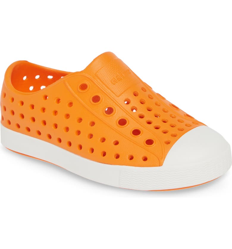 NATIVE SHOES Jefferson Water Friendly Slip-On Vegan Sneaker, Main, color, CITY ORANGE/ SHELL WHITE