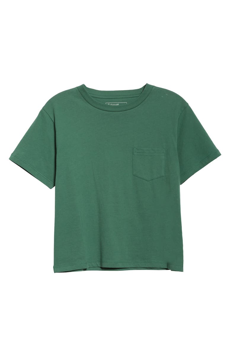 ENTIREWORLD Organic Cotton Jersey Pocket Boy Tee, Main, color, SAGE