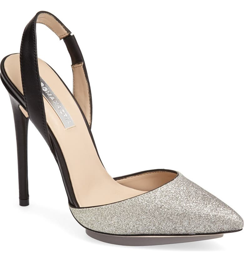 BCBGMAXAZRIA 'Koda' Pointy Toe Slingback Pump, Main, color, 002