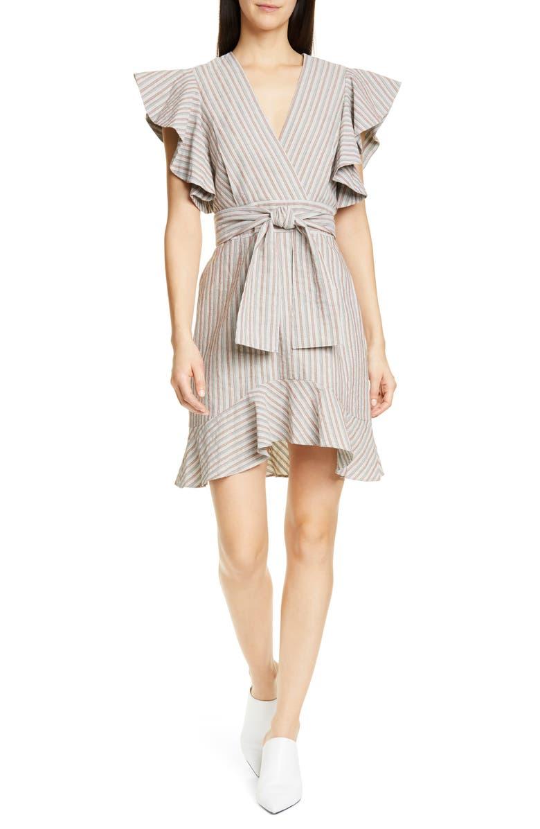 ROBERT RODRIGUEZ Basia Stripe Dress, Main, color, 840