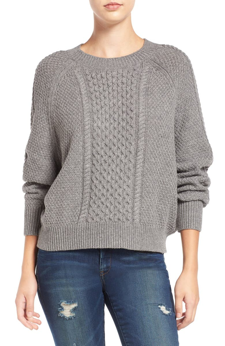 BP. Cable Knit Dolman Sweater, Main, color, 030