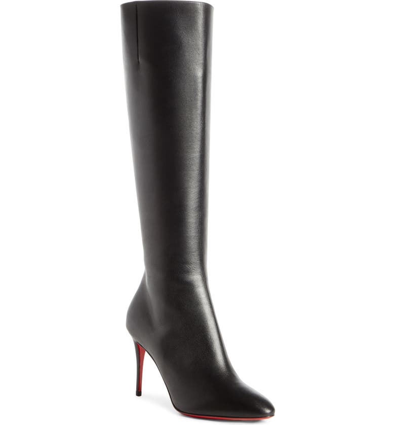 CHRISTIAN LOUBOUTIN Eloise Knee High Boot, Main, color, BLACK