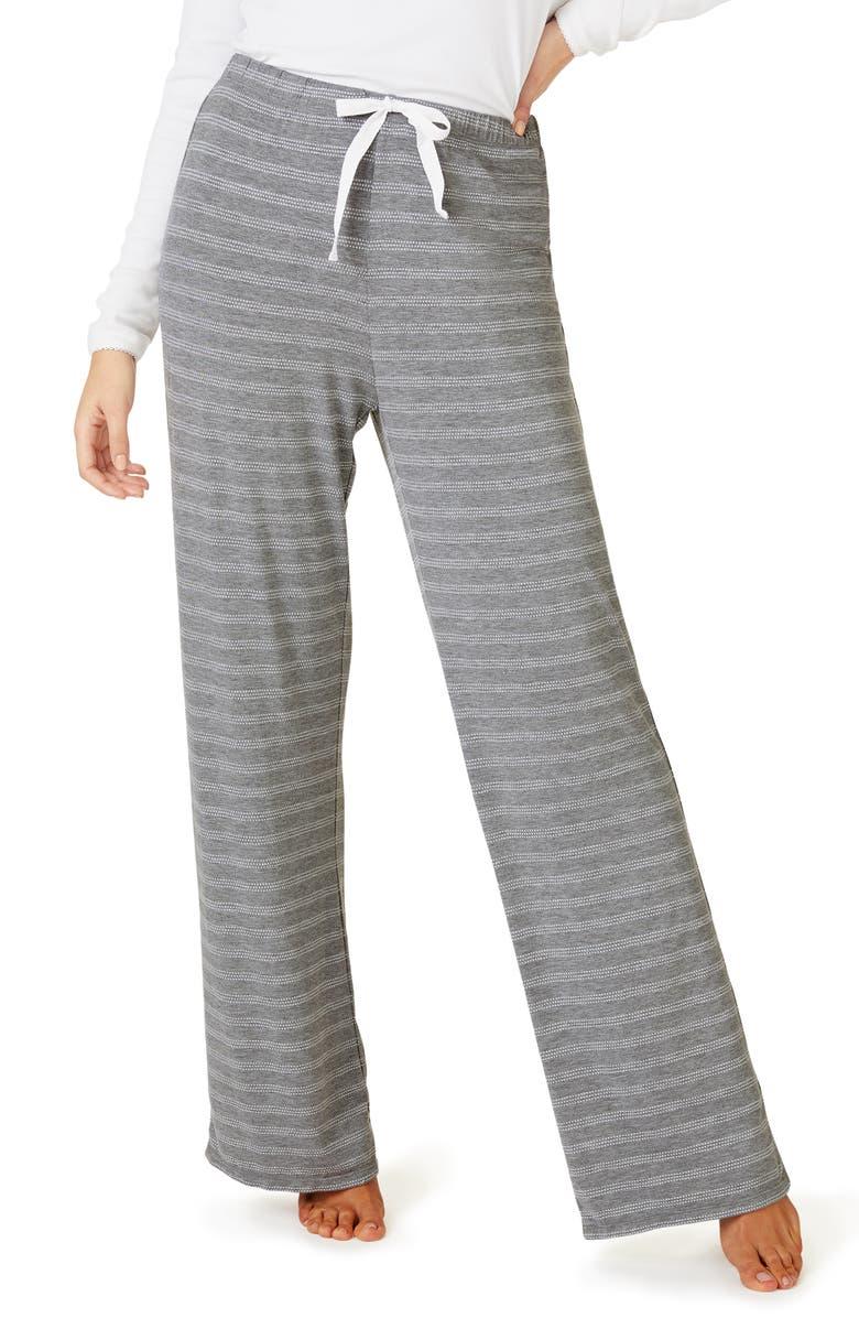 THE WHITE COMPANY Stitch Stripe Pajama Pants, Main, color, 020