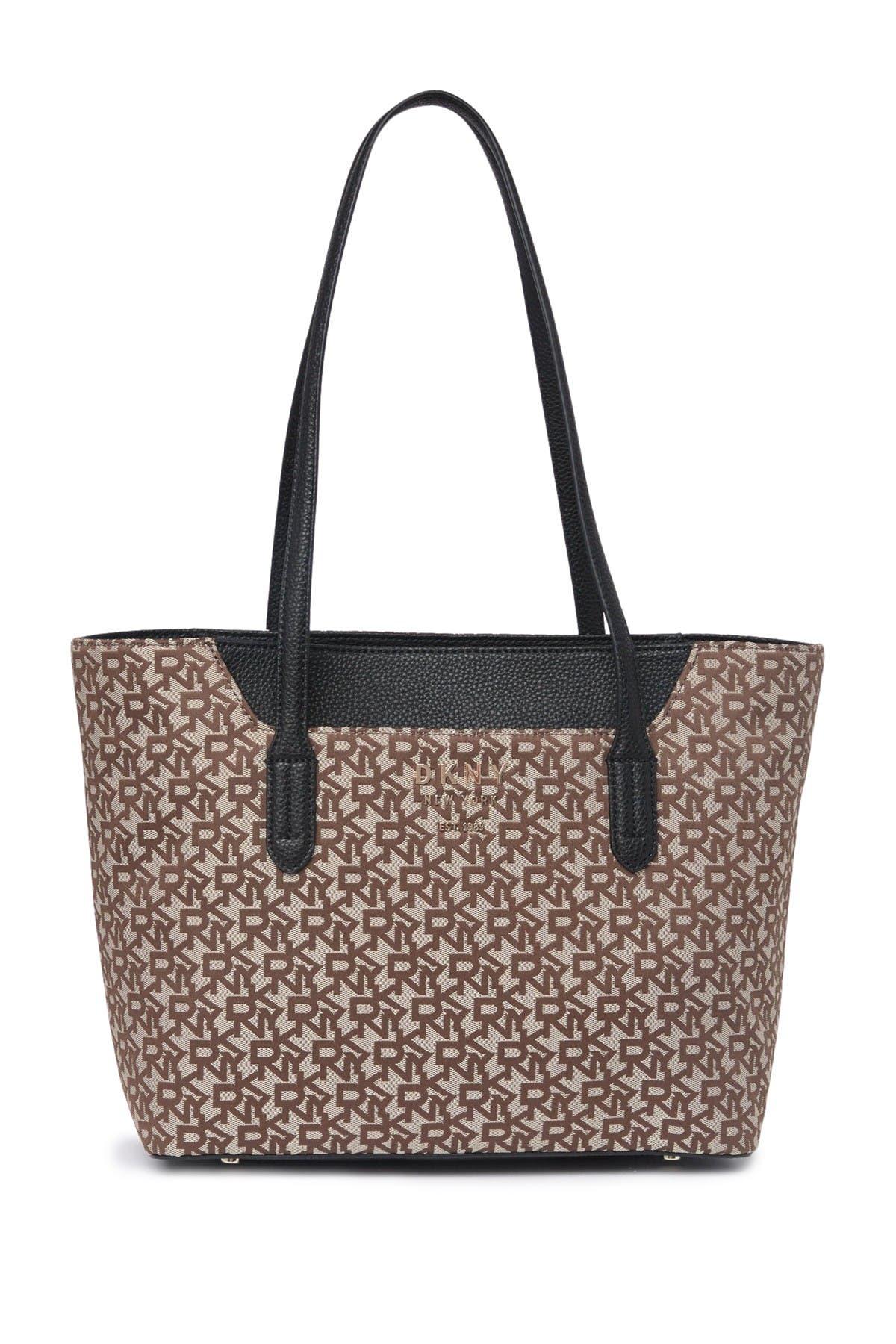 Image of DKNY Noho Logo Print Tote Bag