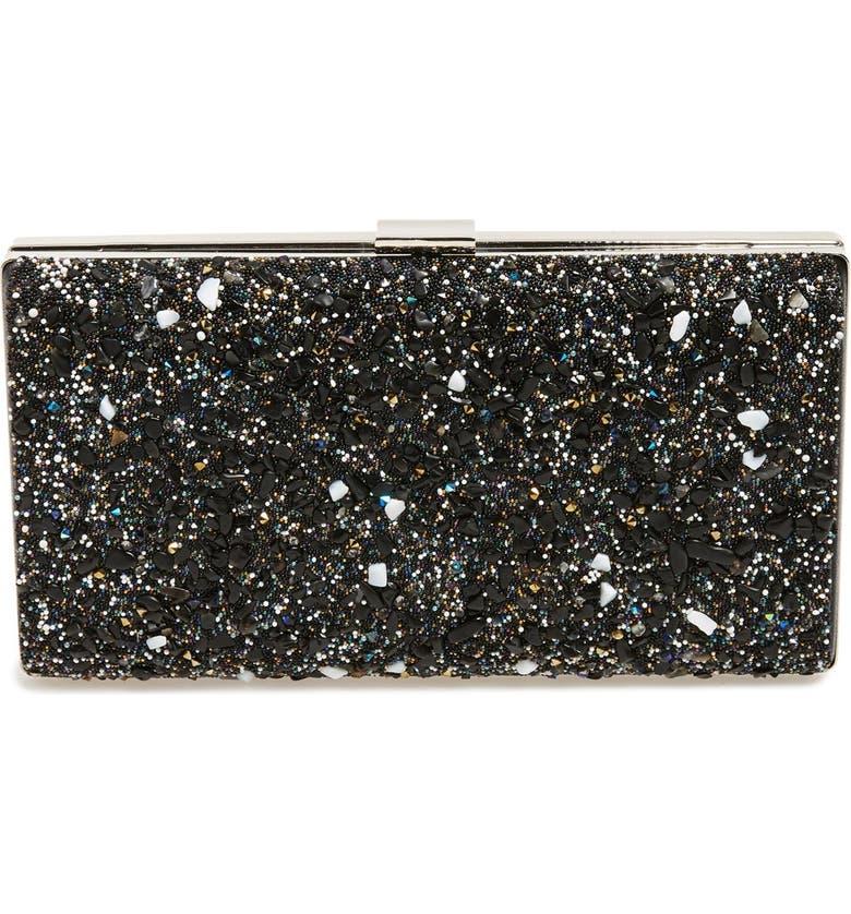 ZZDNU NATASHA COUTURE Natasha Couture 'Starry Night' Box Clutch, Main, color, 400