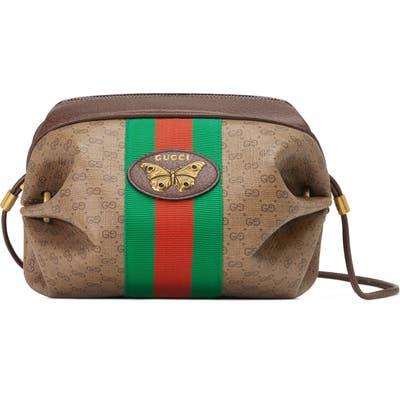 Gucci New Candy Gg Supreme Canvas Mini Crossbody Bag - Brown