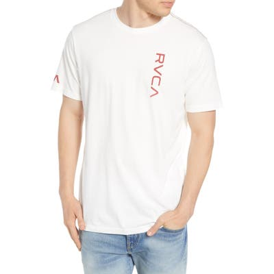Rvca Vertical Logo Graphic T-Shirt, White