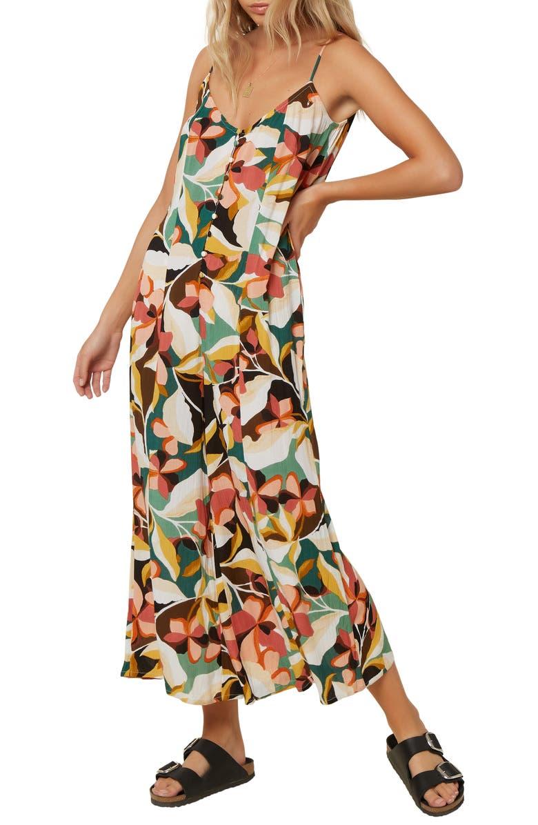 O'NEILL Candice Floral Print Wide Leg Jumpsuit, Main, color, MULTI COLORED