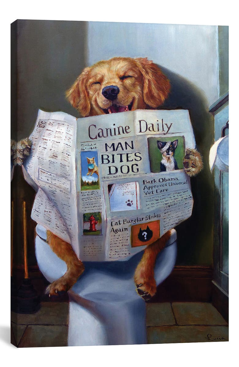ICANVAS Dog Gone Funny by Lucia Heffer Giclée Print Canvas Art, Main, color, WHITE