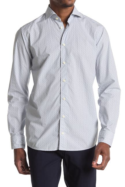 Image of Eton Micro Print Slim Fit Shirt