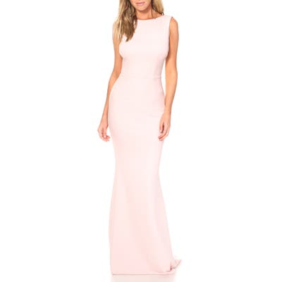 Katie May Vionnet Drape Back Crepe Gown, 8 (similar to 1) - Pink