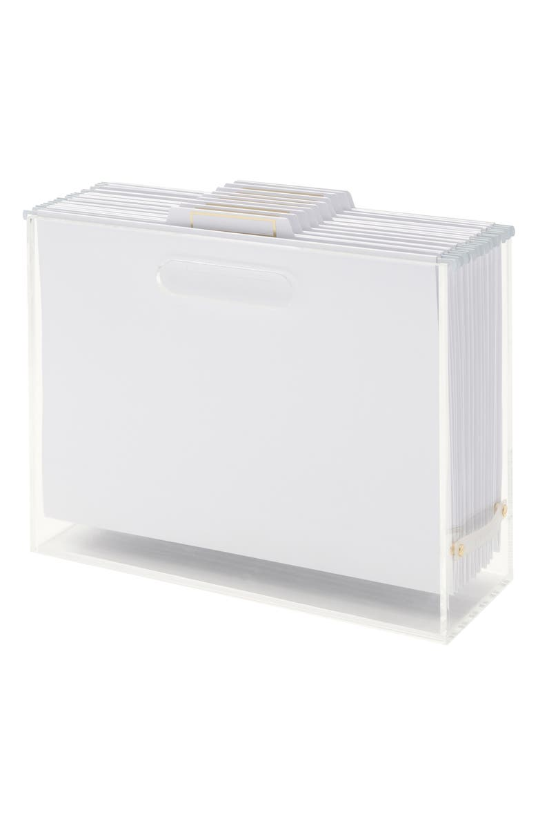 RUSSELL + HAZEL Acrylic File Box Set, Main, color, CLEAR