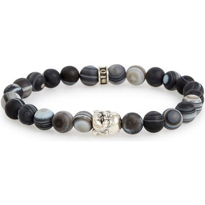 Room101 Frosted Agate Buddha Bead Bracelet