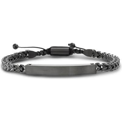 Ben Sherman Steel Bar Foxtail Bracelet