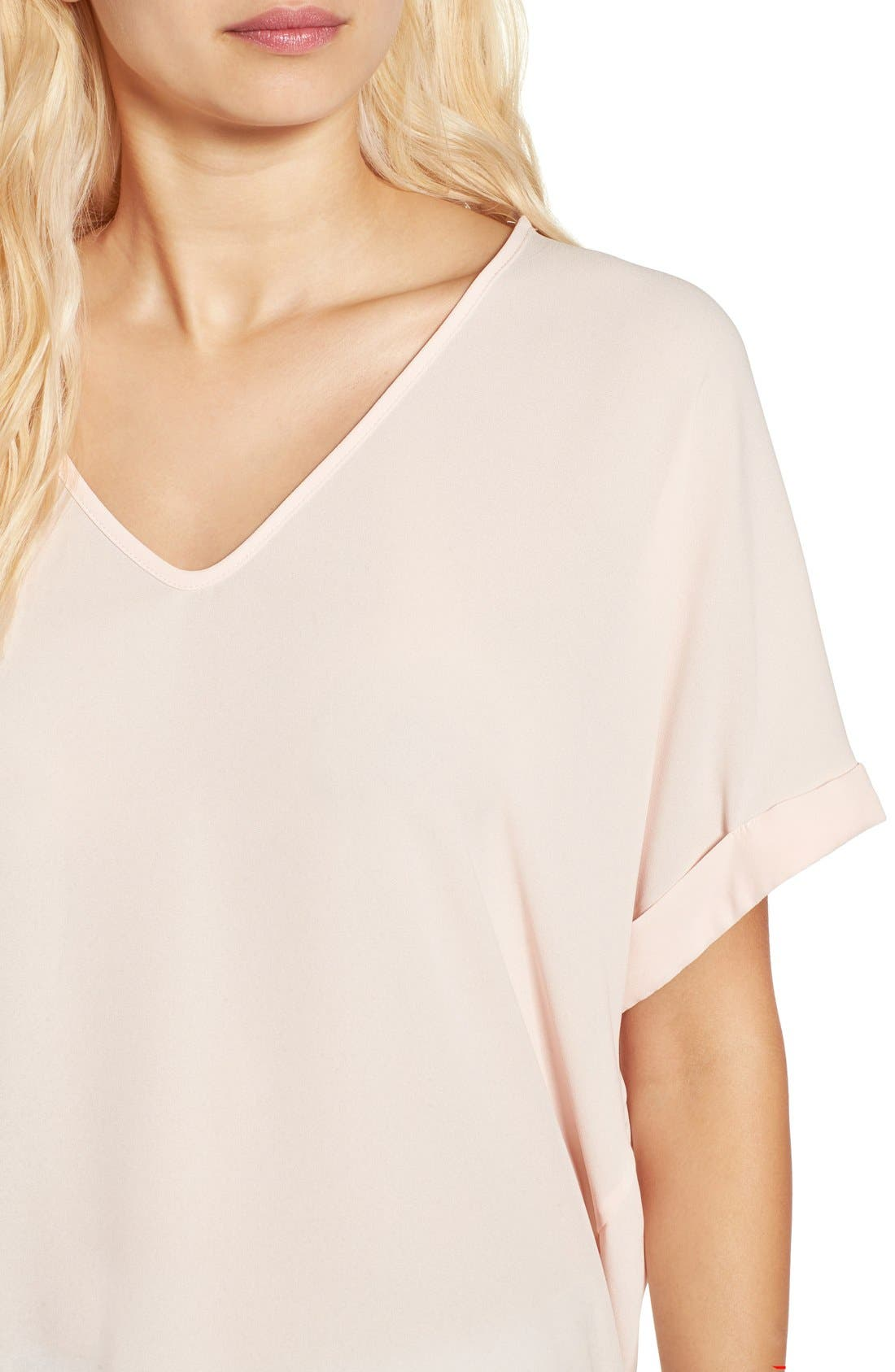 ,                             Lush Cuff Sleeve Woven Tee,                             Alternate thumbnail 165, color,                             652