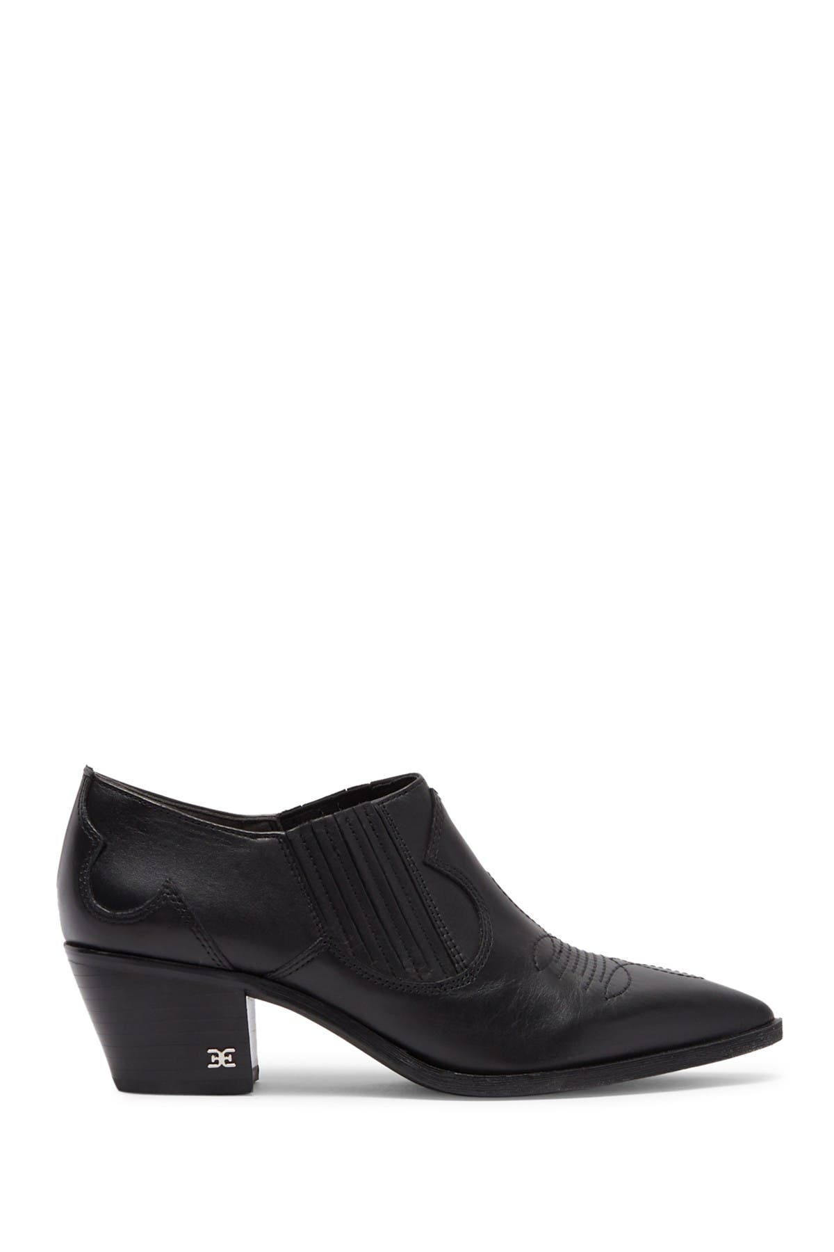 Image of Sam Edelman Roy Leather Western Ankle Bootie