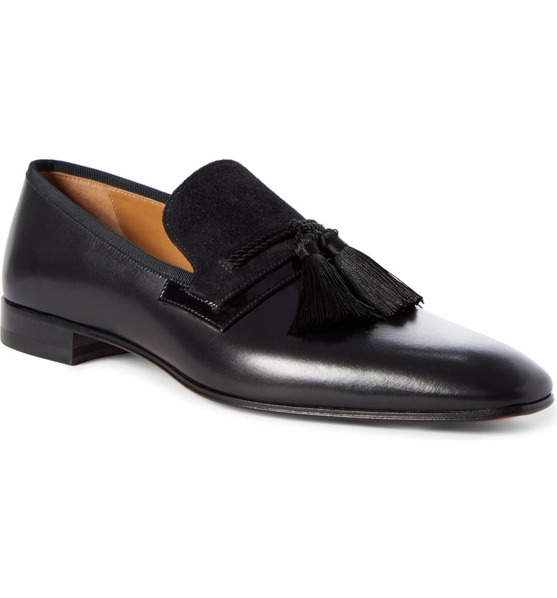 CHRISTIAN LOUBOUTIN Doc Sofa Tassel Loafer, Main, color, 001
