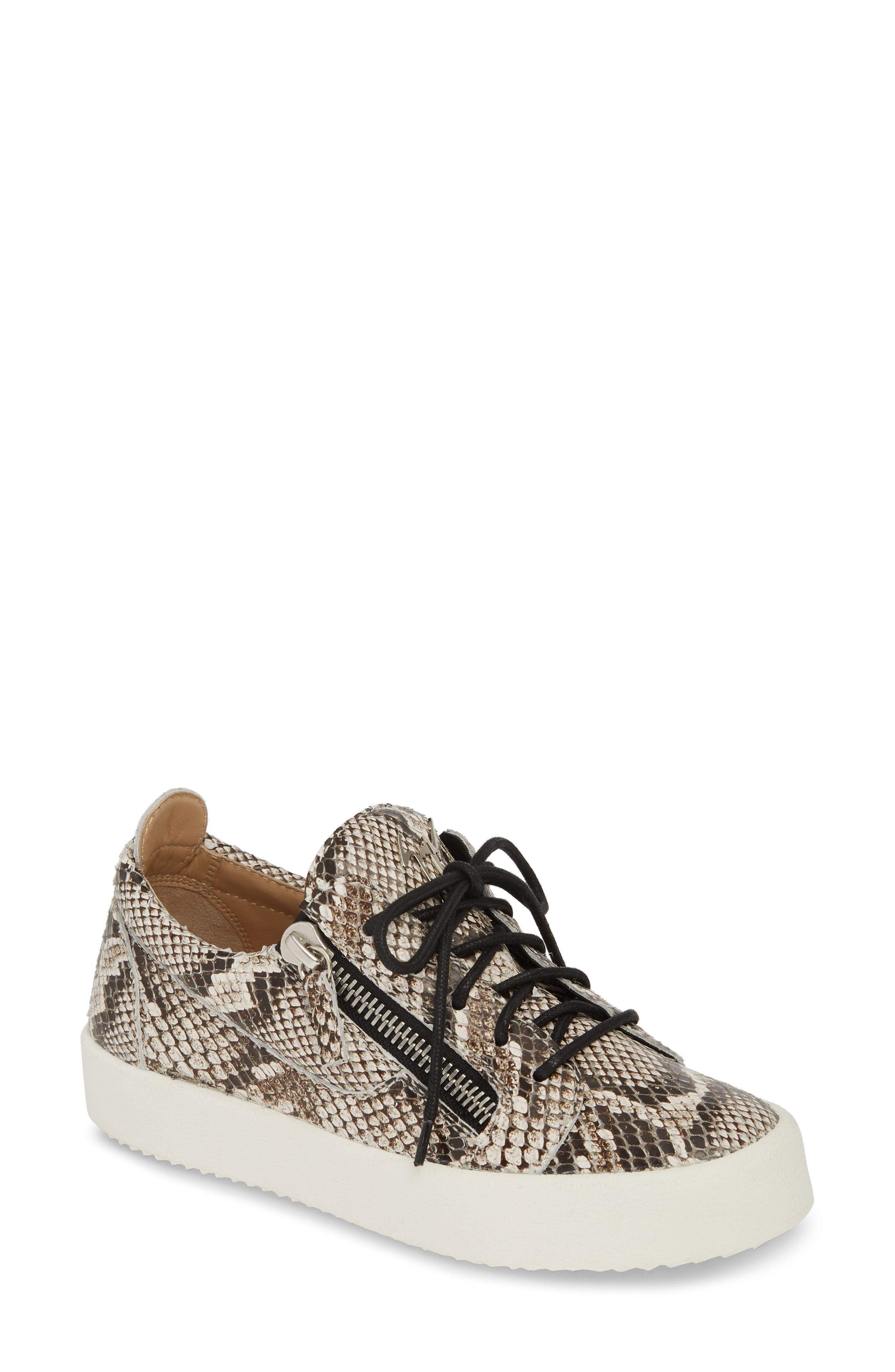 Giuseppe Zanotti May London Low Top Sneaker, Beige