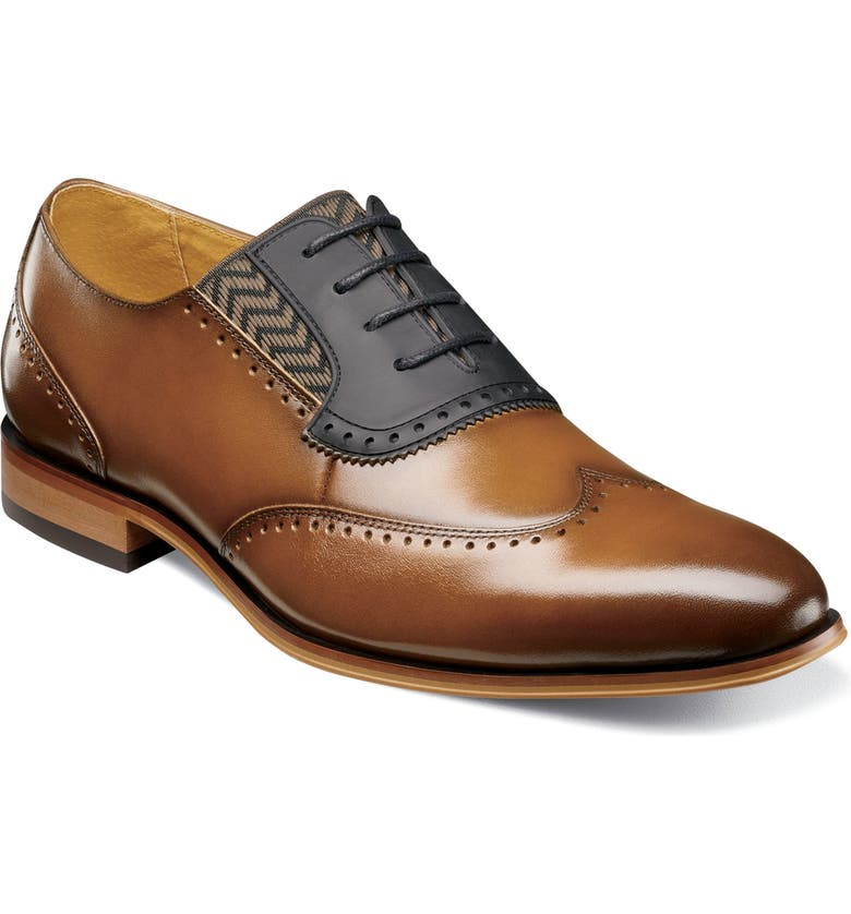 STACY ADAMS Sullivan Wingtip, Main, color, COGNAC