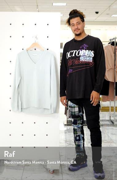 V-Neck Cashmere Tunic Sweater, sales video thumbnail