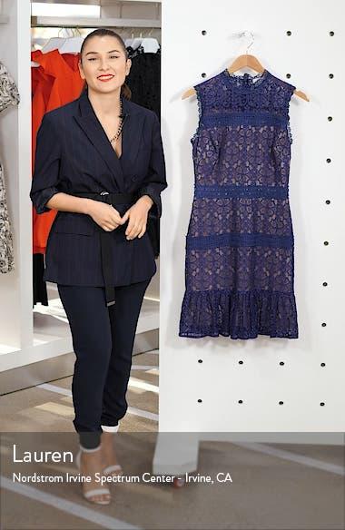 Mock Neck Lace Sheath Dress, sales video thumbnail