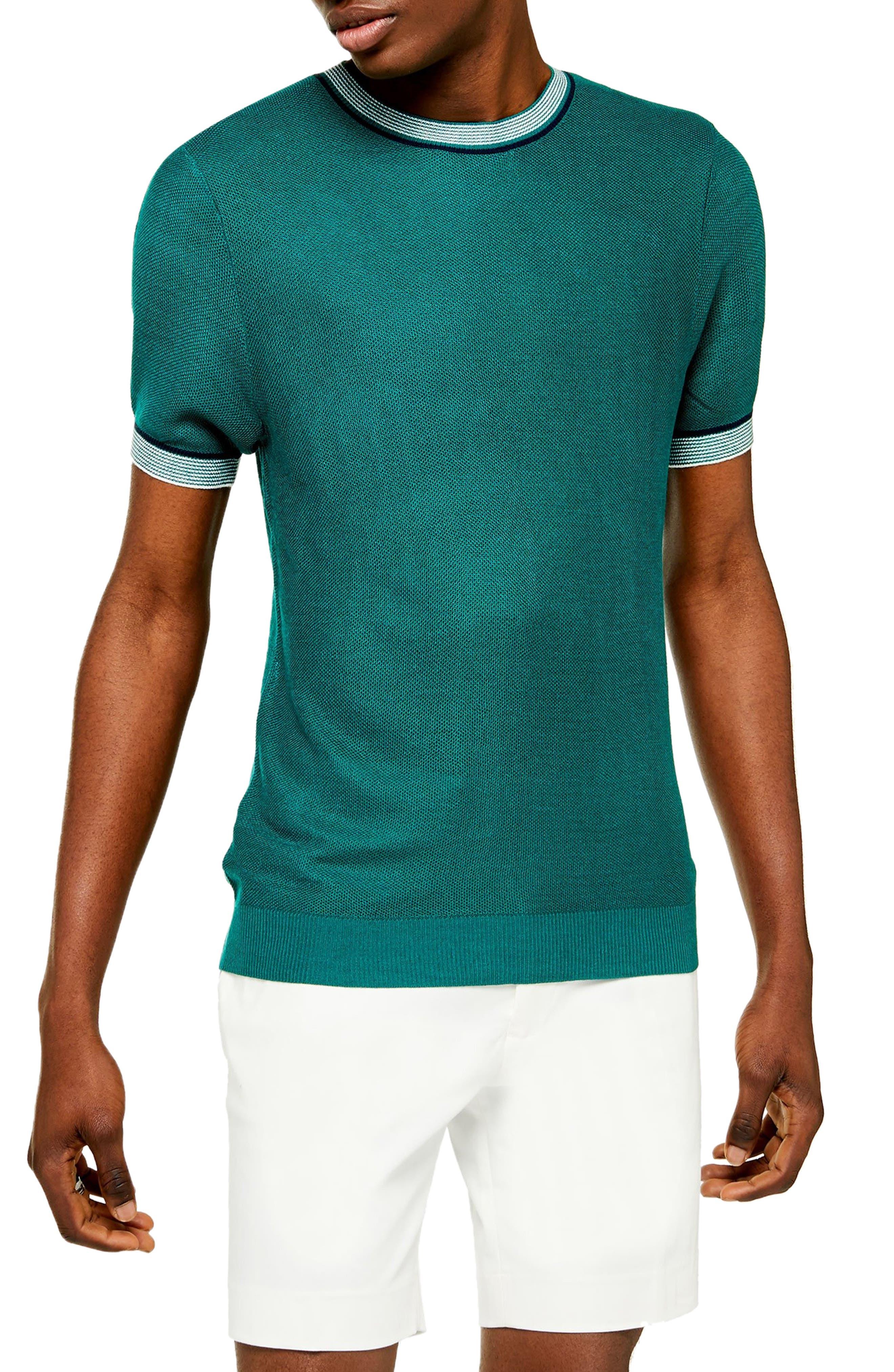 1950s Mens Shirts | Retro Bowling Shirts, Vintage Hawaiian Shirts Mens Topman Textured Tip Classic Fit Sweater $29.98 AT vintagedancer.com