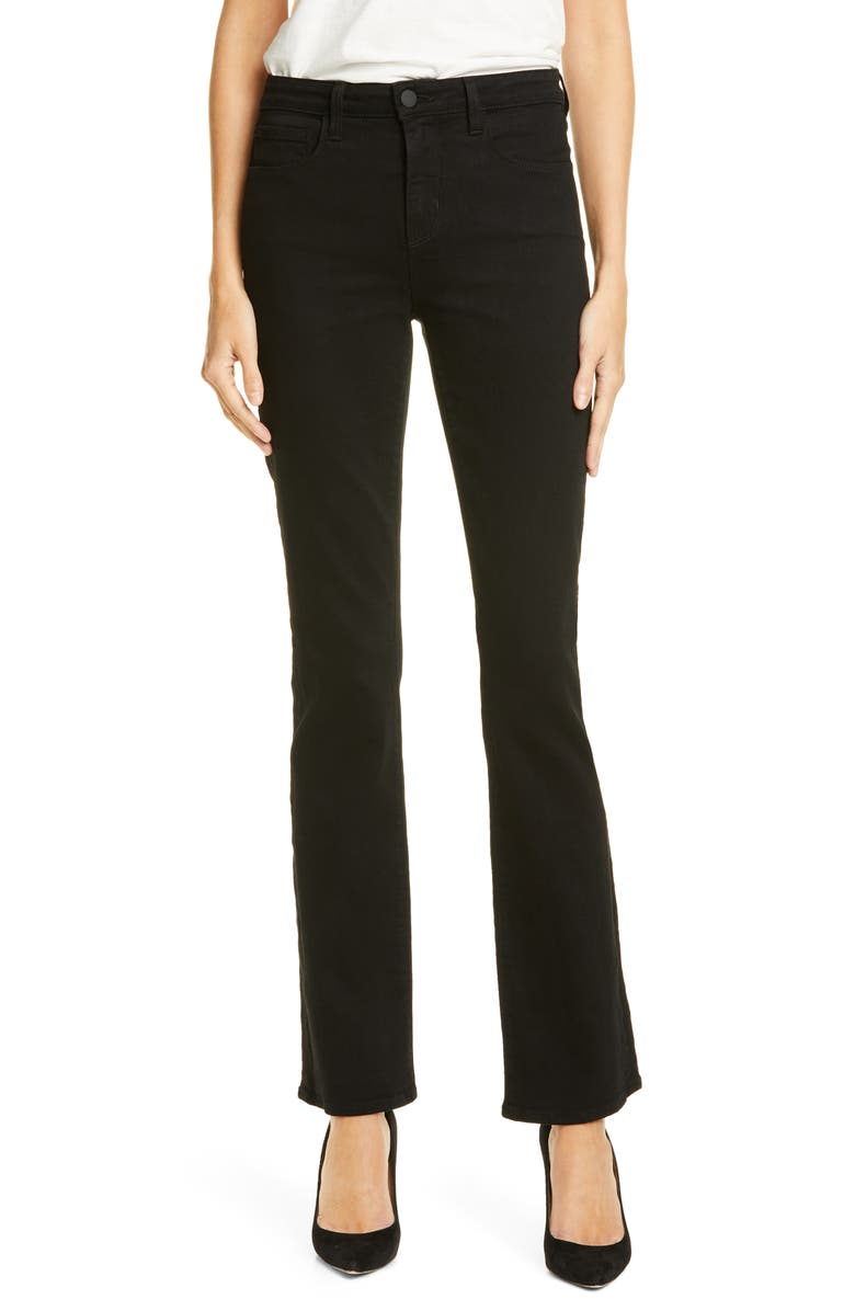 L'AGENCE Oriana Bootcut Jeans, Main, color, NOIR