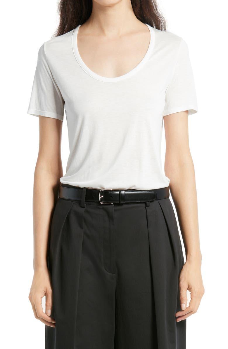 THE ROW Stilton Light Jersey Top, Main, color, WHITE