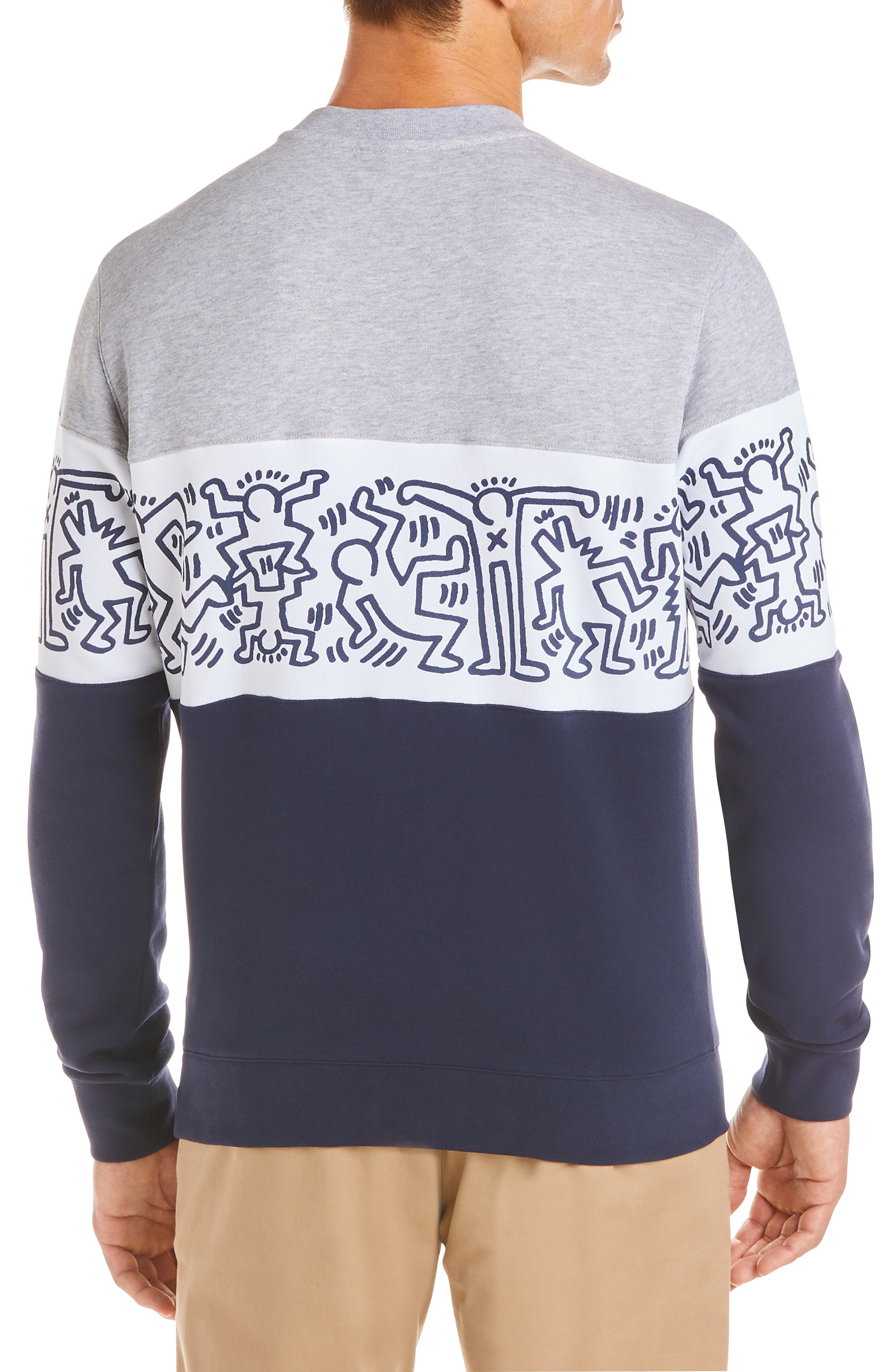 ,                             x Keith Haring Colorblock Sweatshirt,                             Alternate thumbnail 2, color,                             NAVY BLUE/ WHITE-SILVER CHINE