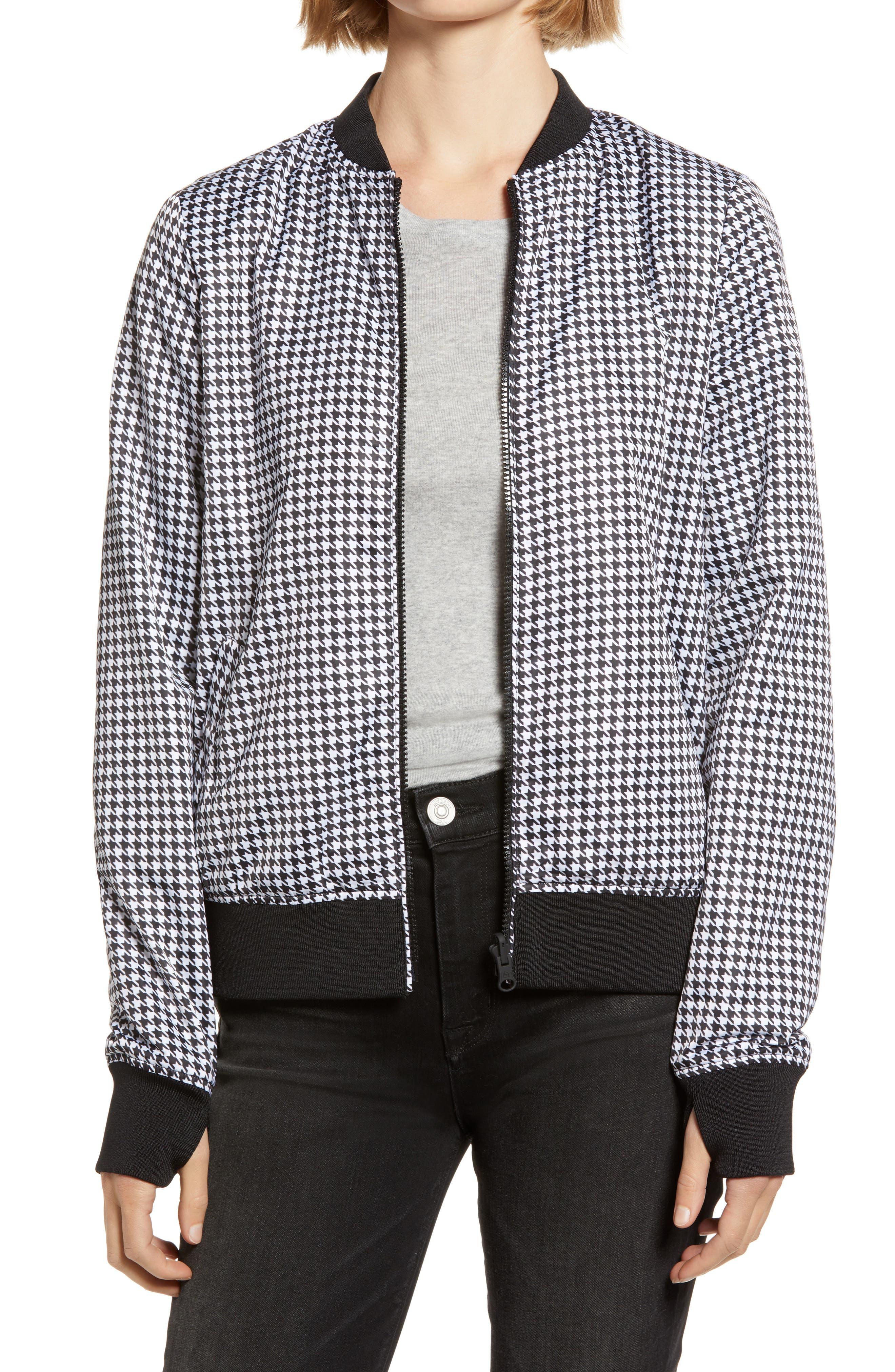 80s Windbreakers, Jackets, Coats Womens Blanc Noir Reversible Bomber Jacket Size Small - Black $89.50 AT vintagedancer.com