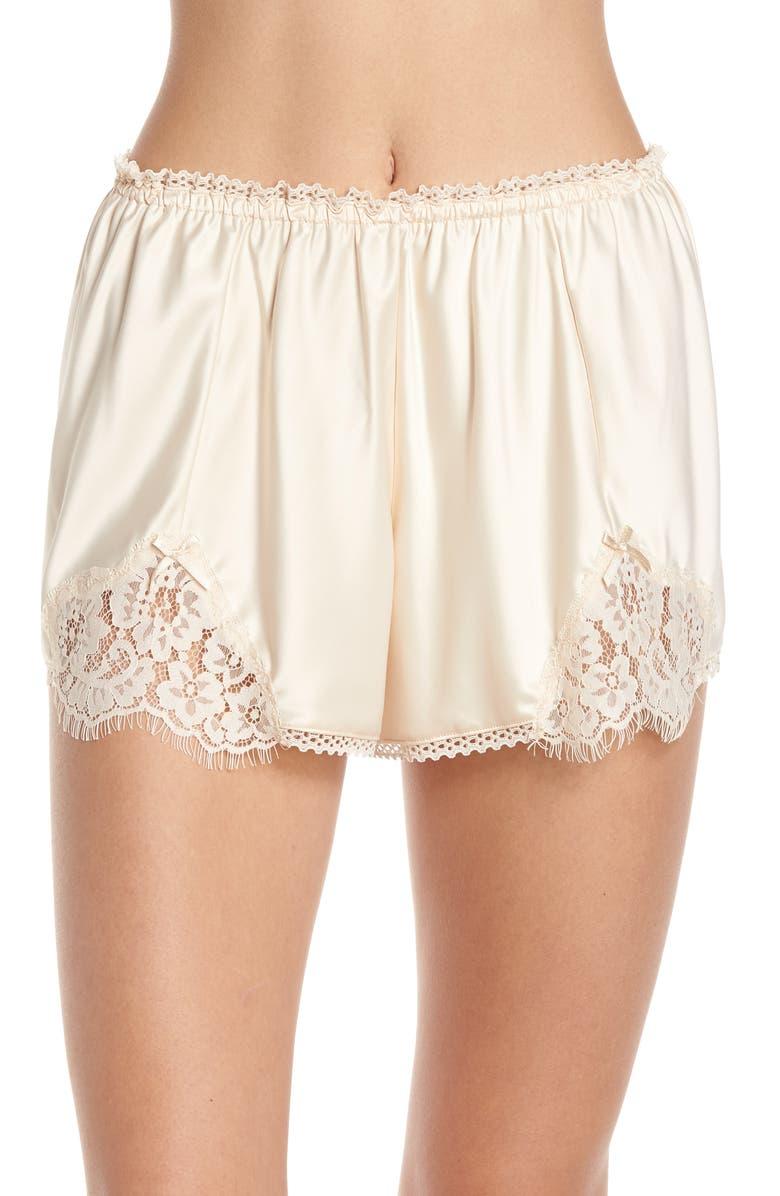 PALINDROME Amaranth High Waist French Shorts, Main, color, 909