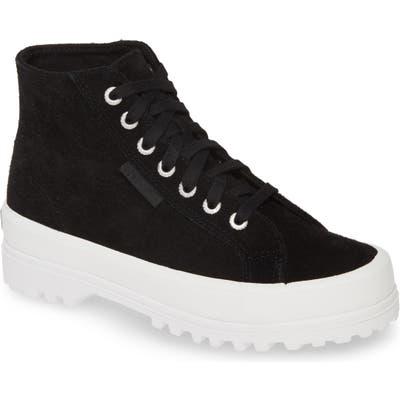 Superga 2341 Sue High Top Platform Sneaker, Black