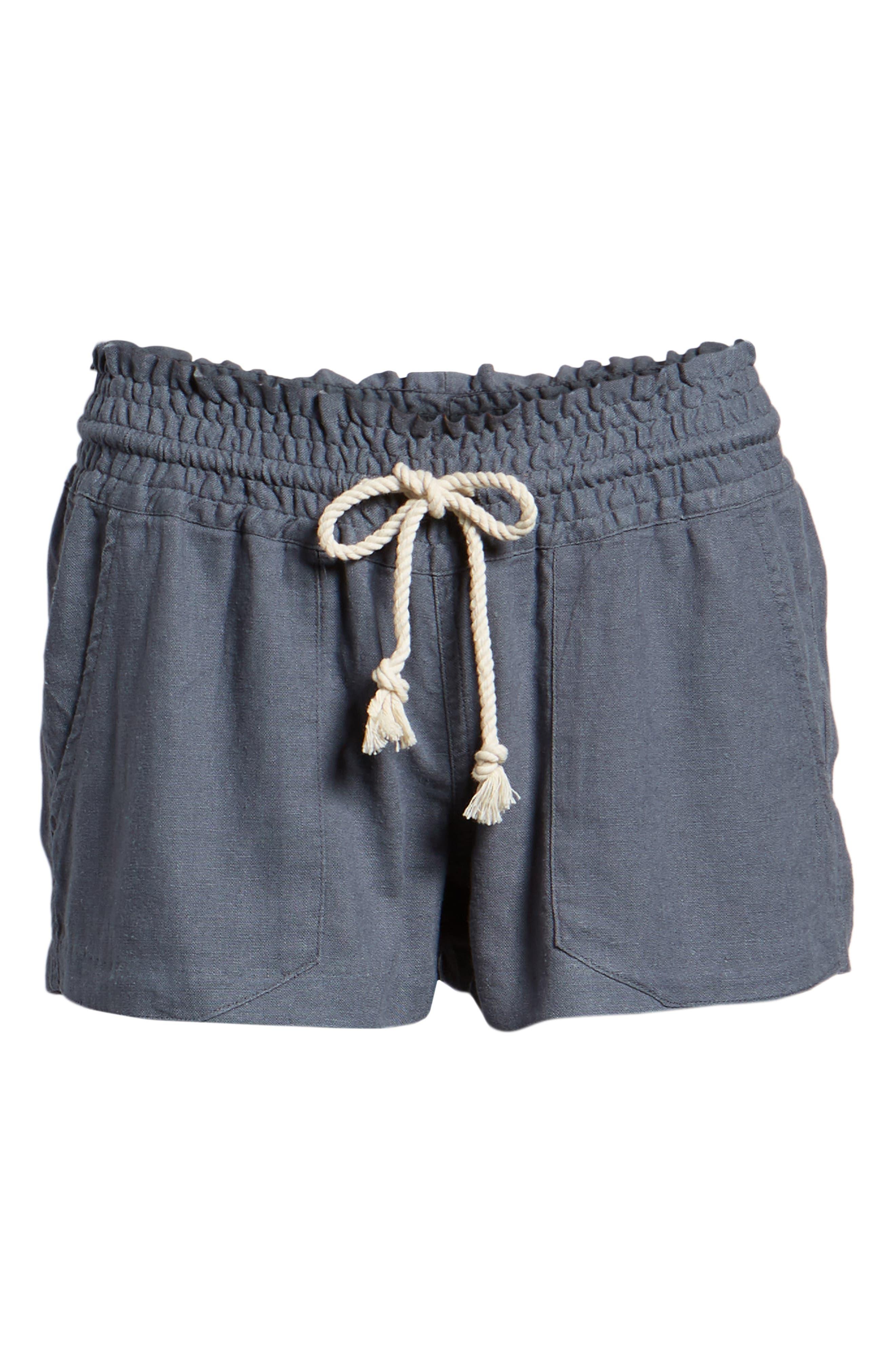 ,                             'Oceanside' Linen Blend Shorts,                             Alternate thumbnail 6, color,                             020