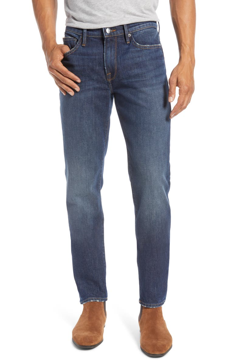 FRAME L'Homme Skinny Jeans, Main, color, SMITTY